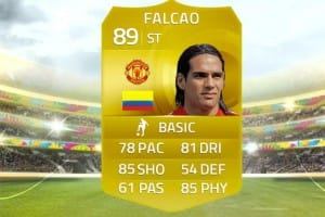 Man Utd Falcao and Madrid Hernandez in FIFA 15 video