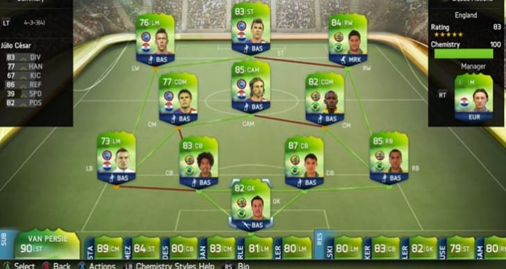 Bayern's Mandzukic with Barcelona's Alves in hybrid FIFA UT WC