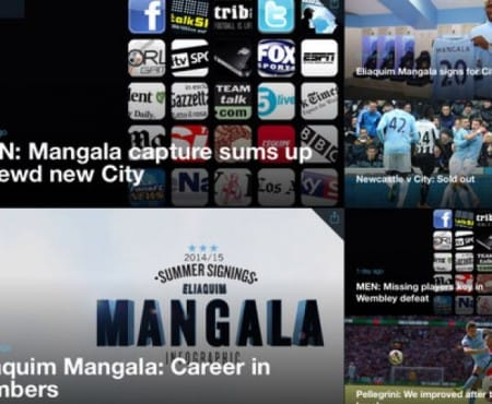 Manchester City FC fine tunes news for iPad