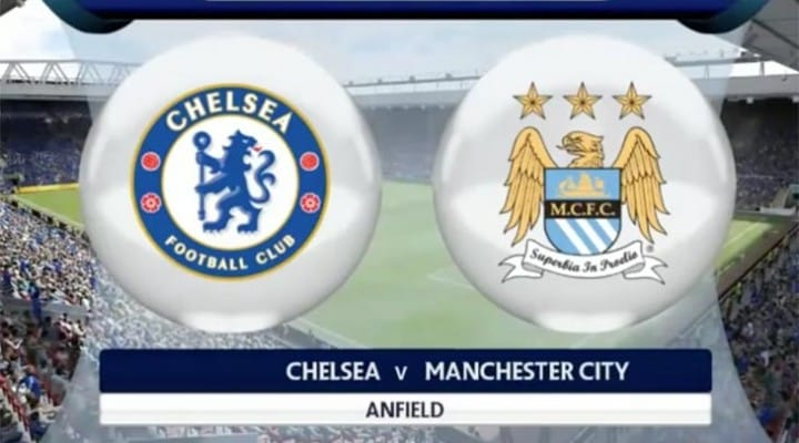 Man City Vs Chelsea with Aguero in FIFA prediction