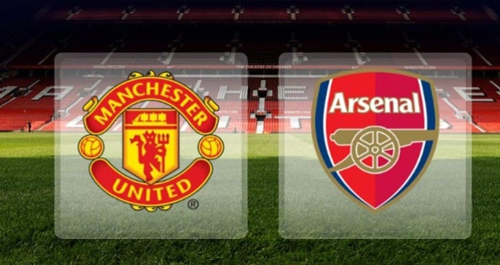 Manchester United Vs Arsenal FC on 2015 virtual pitch