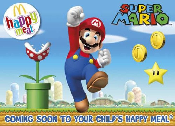 Nintendo use Super Mario to promote McDonald's