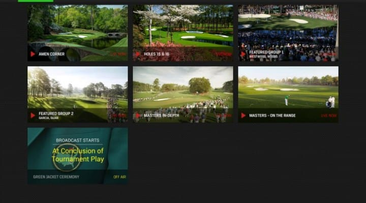 Masters Golf 2014 apps for live leaderboard