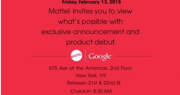 Mattel and Google get the jump on NY Toy Fair 2015