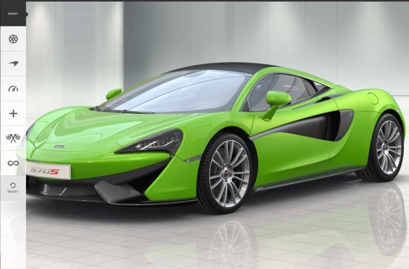 McLaren 570S color options