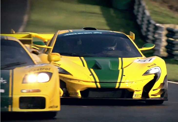 McLaren P1 GTR  vs. F1 GTR on track, not in anger