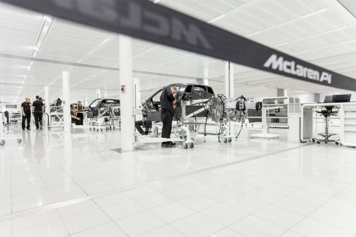 McLaren P1 production line images on social channels