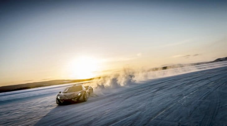 McLaren P1 winter test