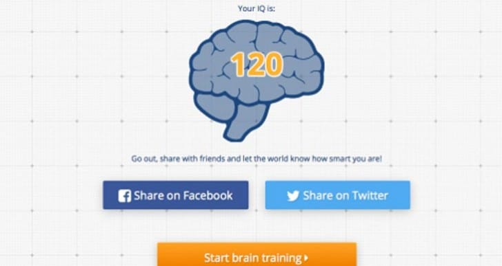 Memorado Quick IQ Test storms Facebook