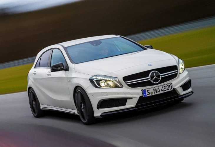 Mercedes A45 AMG showdown
