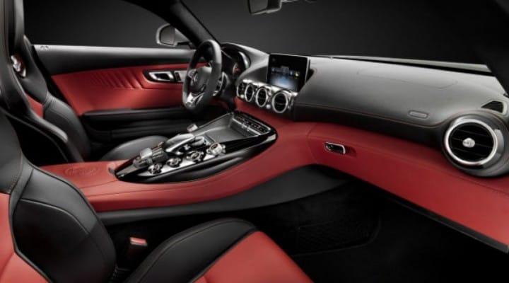Mercedes AMG GT interior pre-New York Auto Show