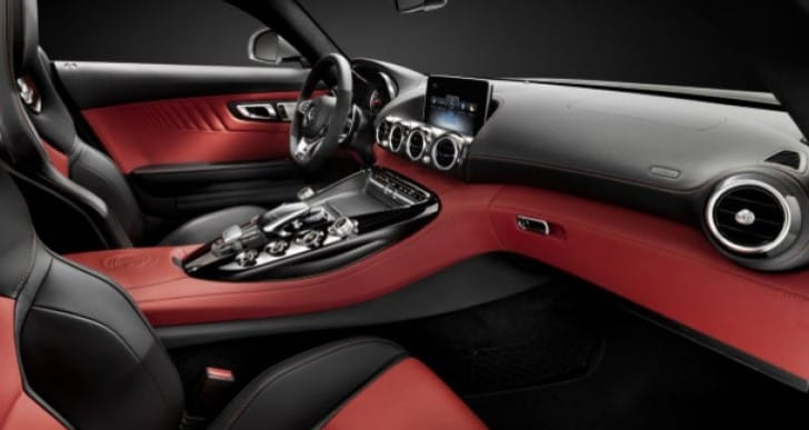 Mercedes AMG GT interior pre-New York Auto Show