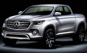 Mercedes GLT pickup truck engine details shared