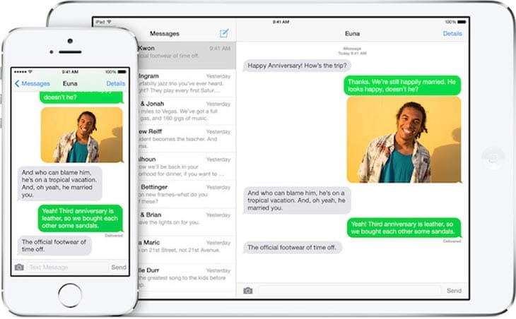 Messaging-iOS-8-ipad-to-iphone