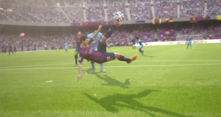 Messi scores for FC Barcelona in FIFA 15 TV commercial