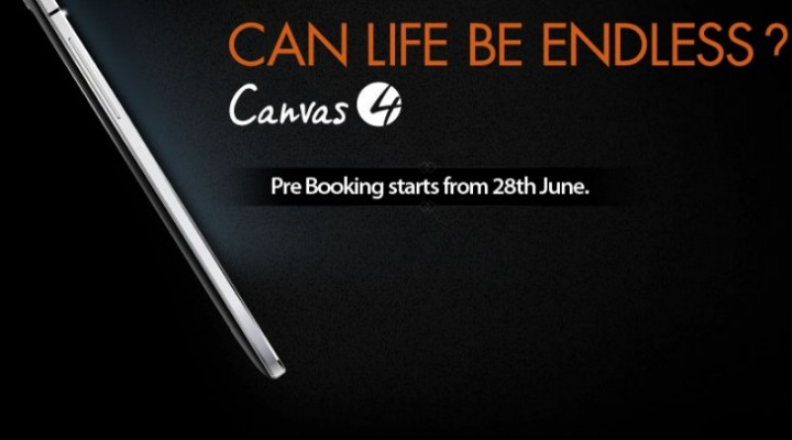 Micromax Canvas 4 HD marketing campaign for India launch