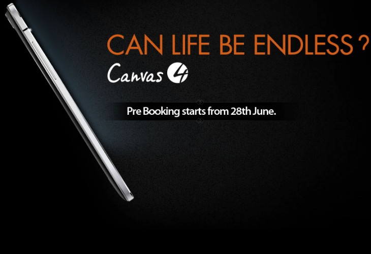 Micromax Canvas 4 marketing campaign for India launch