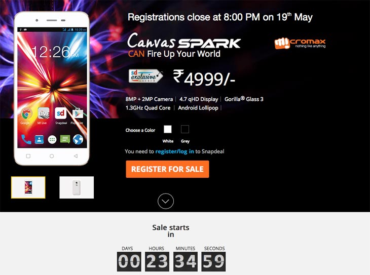 Micromax-Canvas-Spark-SnapDeal