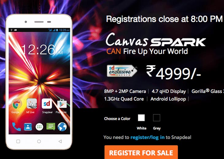 Micromax-Canvas-Spark-price-India