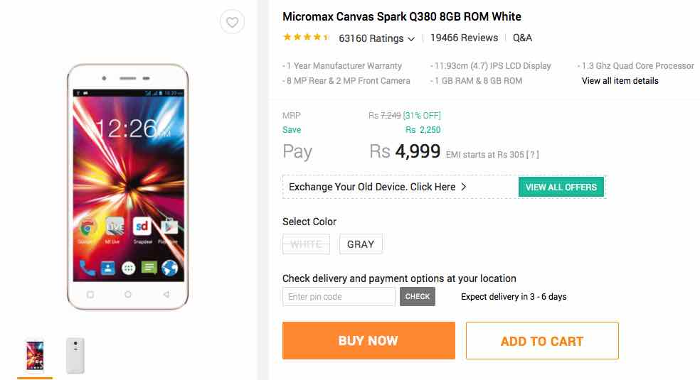 Micromax Canvas Spark update