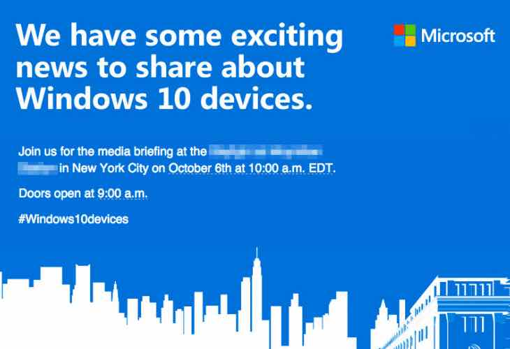 Microsft Windows 10 devcies launch event