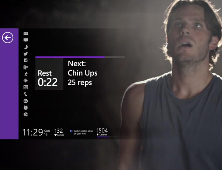 Microsoft-Band-working-out-fitness