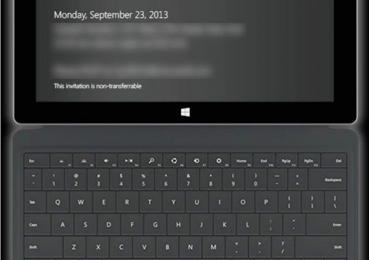 Microsoft Surface 2 launch event given date