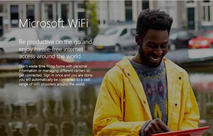 Microsoft WiFi launch