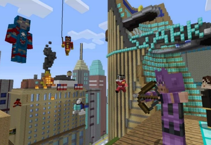 Minecraft Marvel skins tease for PS3 owners