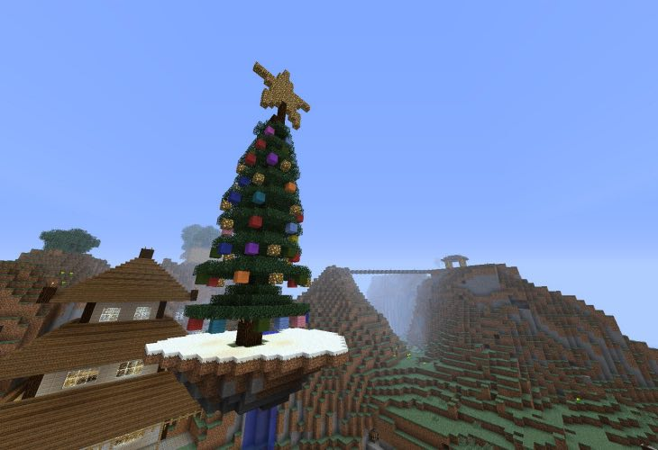 Minecraft PE 2014 Christmas Tree