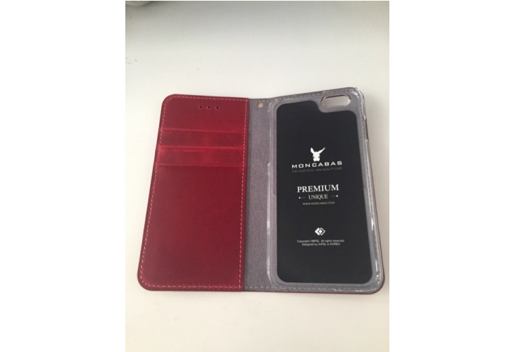 Moncabas Vintage Wallet leather case review for iPhone 6s 5