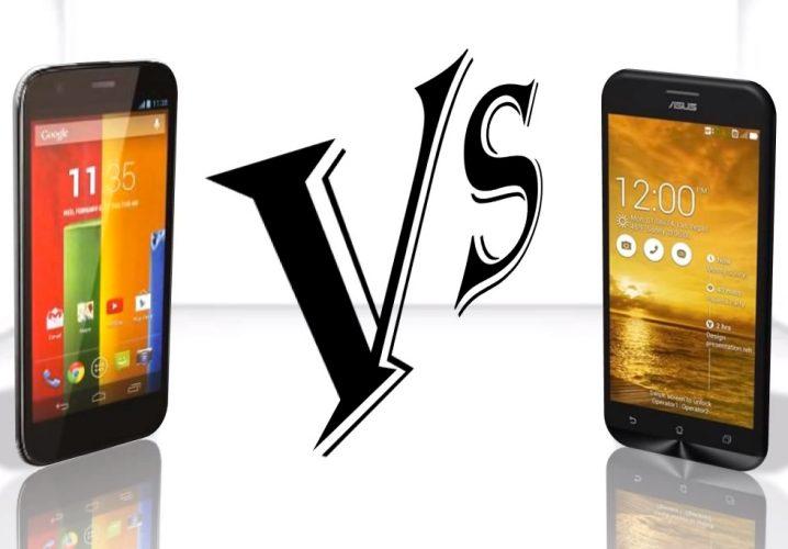 Moto G vs. Nexus 5, Asus Zenfone 5