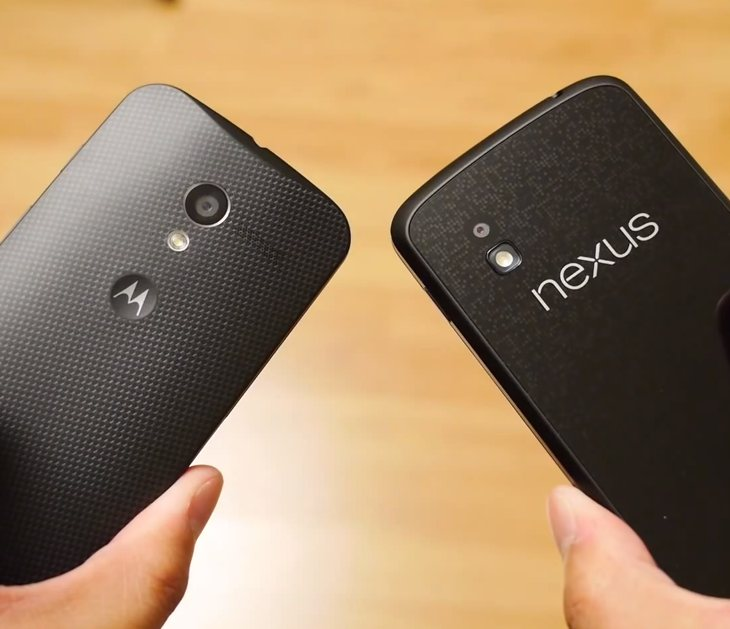 Moto X and Nexus 4 comparison