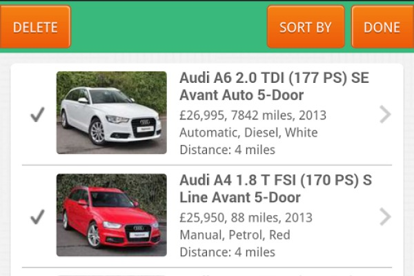 Motors.co.uk car search app