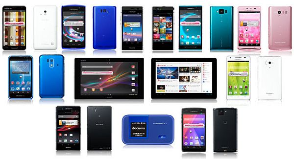 NTT DoCoMo announces new phones and tablets for 2013