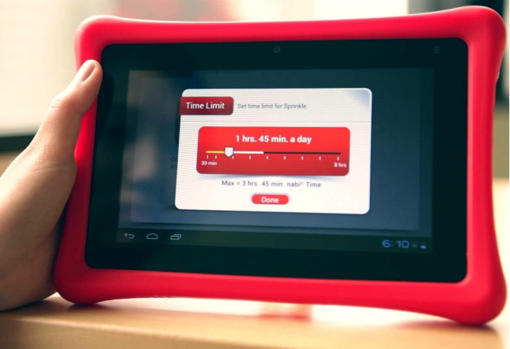 Control how long your child can use the Nabi 2 tablet
