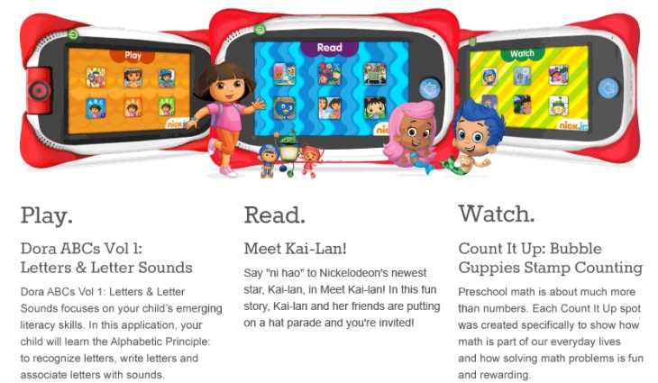 Nabi Jr. 5-inch tablet specs
