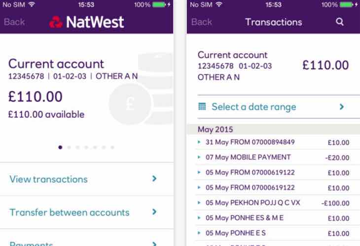 NatWest Touch ID disabled