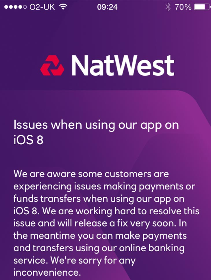 Natwest-confirm-app-not-working-in-iOS-8