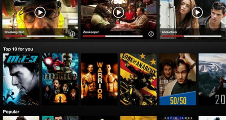 Netflix app update with iPad iOS 7 AirPlay streaming