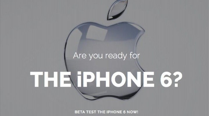 New 2014 iPhone 6 beta test misleads