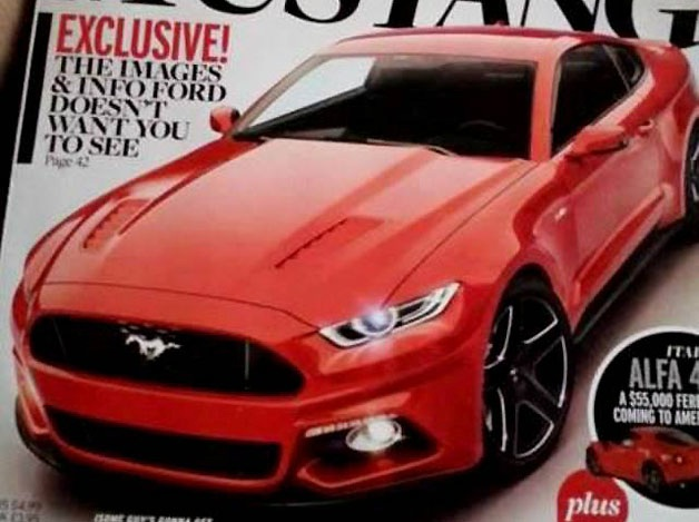 Possible exterior shot of the 2015 Ford Mustang