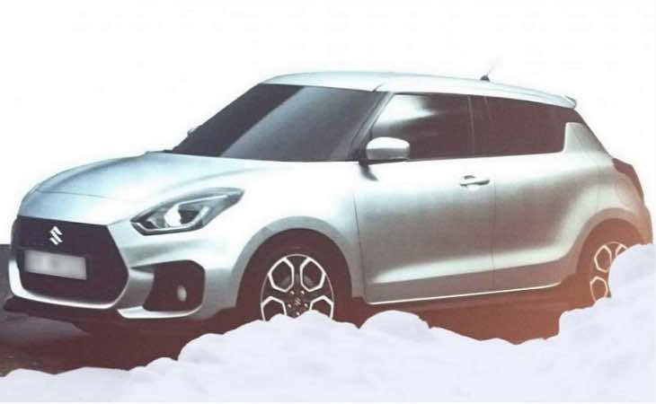 Suzuki Swift's front revealed in an undisguised spy shot