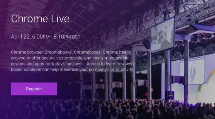 New Chrome products expected during live stream