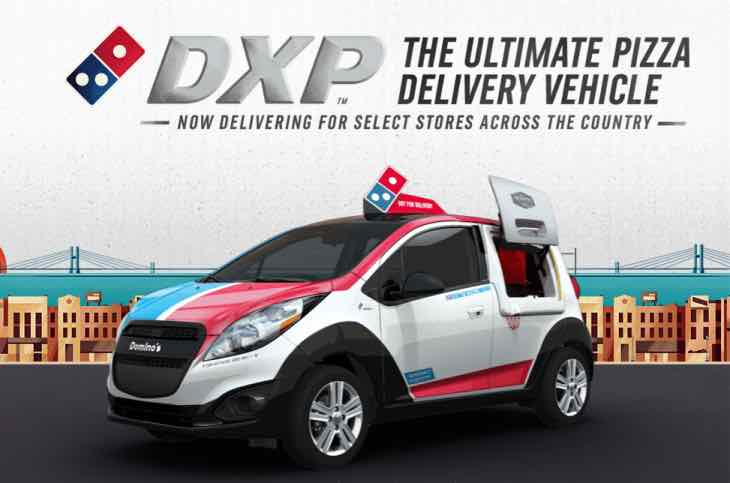 New Domino's pizza delivery car