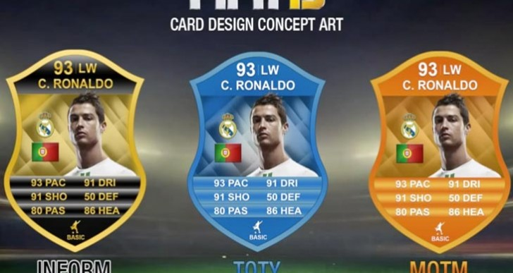 New FIFA 15 cards with Robben, Depay, and Ronaldo
