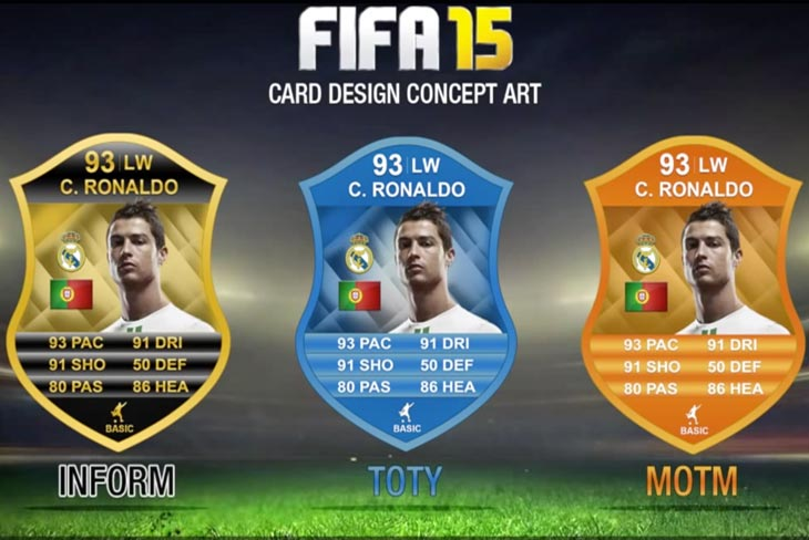 with Robben, FIFA and Depay, 15 cards  Ronaldo New