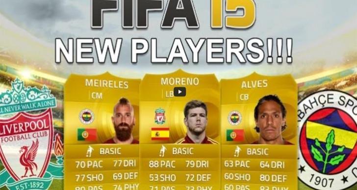 New FIFA 15 players Meireles, Alves and LFC's Alberto Moreno