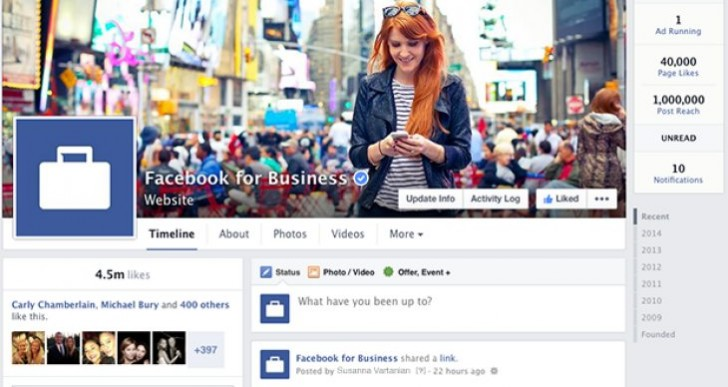 New Facebook Pages design this week