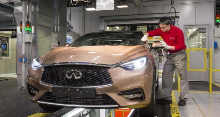 New Infiniti Q30 UK production begins, QX30 to follow